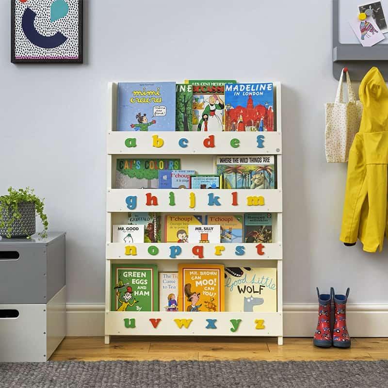 Libreria Frontale per Bambini con Alfabeto di Tidy Books